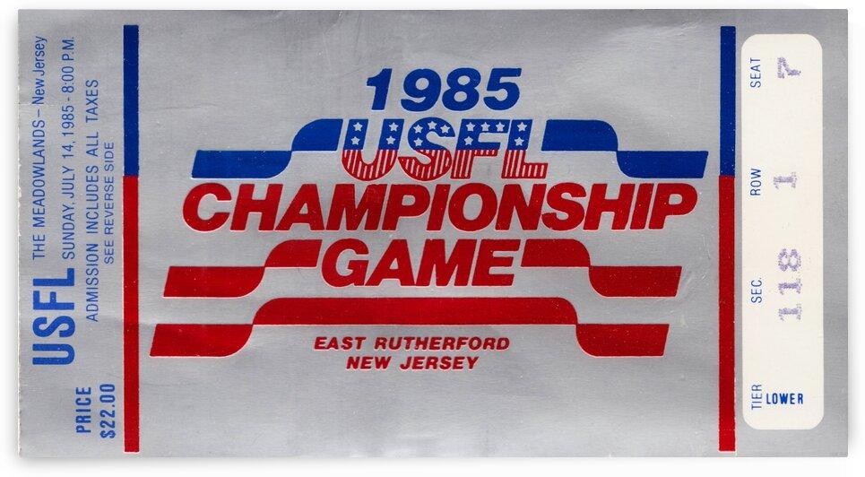 1985 USFL Championship by Row One Brand