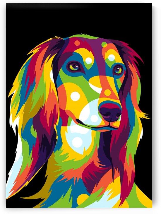 Saluki Dog Portrait by wpaprint