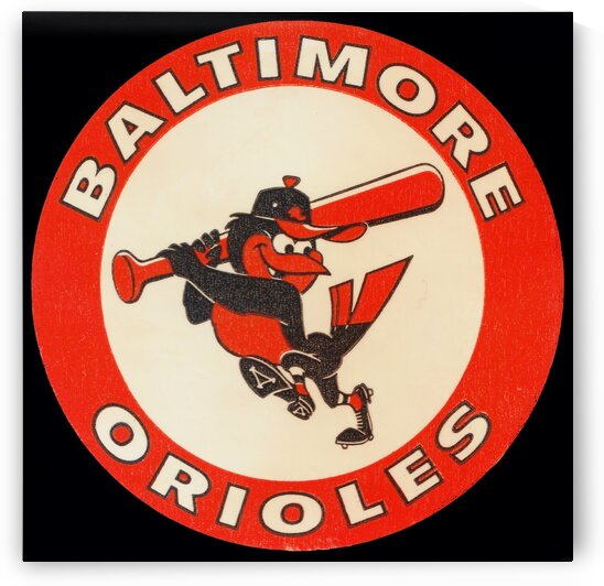 1960s Baltimore Orioles Art by Row One Brand