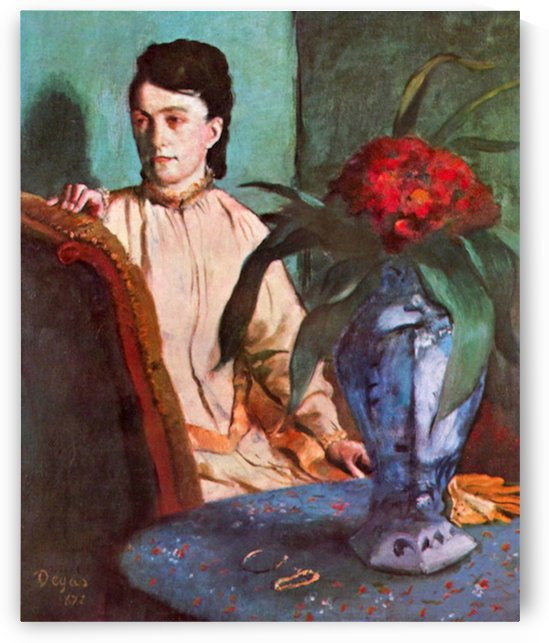 Seated woman by Degas by Degas
