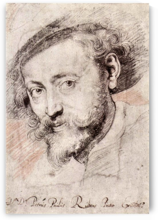 Self Portrait by Rubens by Rubens