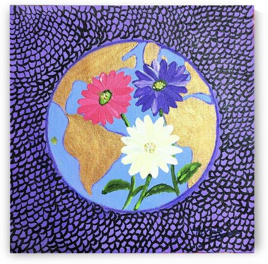 The Earth Daisy Husama Styl-Background by Yasmin MUhammad Elias