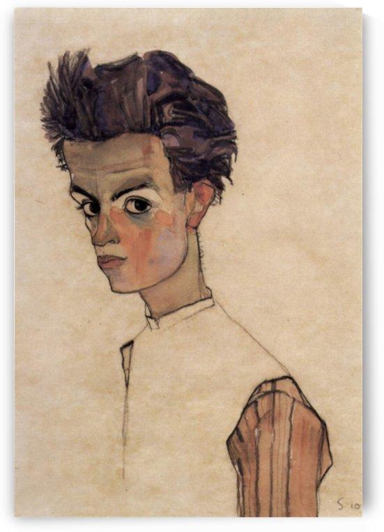 Self-Portrait by Egon Schiele by Egon Schiele