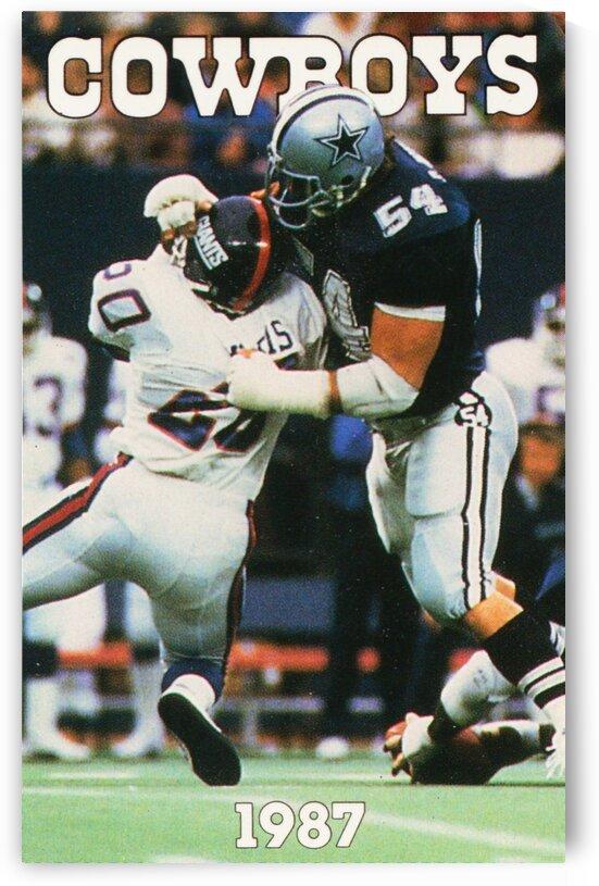 1987 Dallas Cowboys Retro Poster by Row One Brand