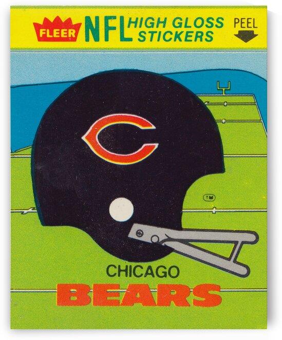 1981 Chicago Bears Fleer Decal NFL Helmet Art by Row One Brand