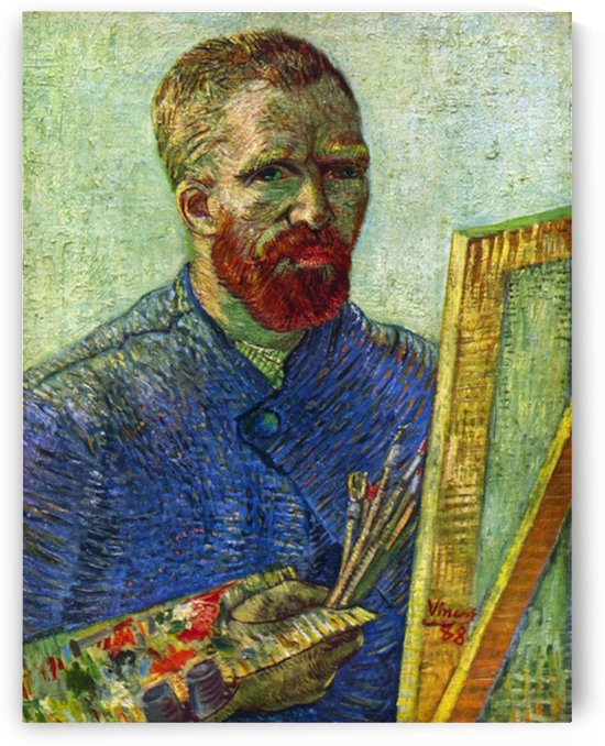 Self-portrait in front easel by Van Gogh by Van Gogh