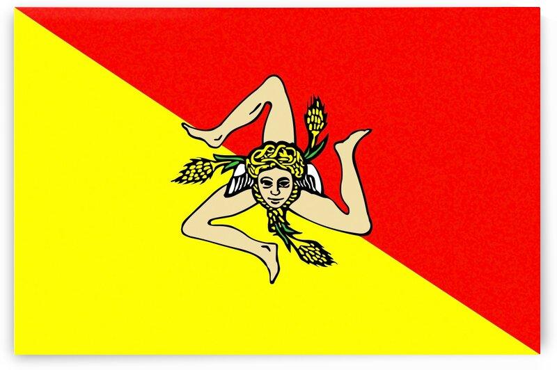 sicilia flag by Tony Tudor