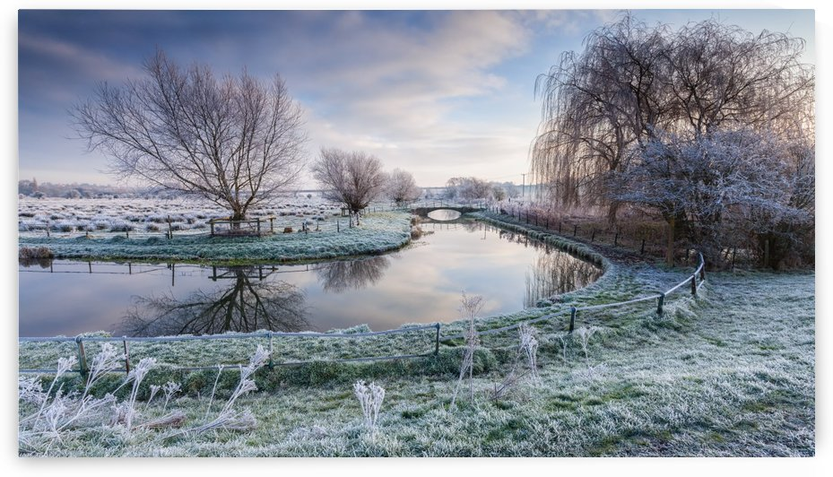 Frost on the Marshes by George Johnson  by 1x