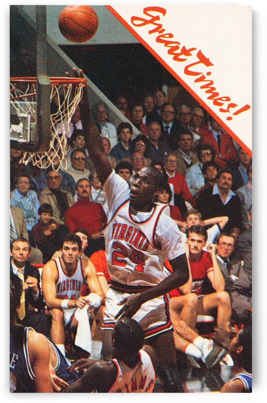 1985 Virginia Cavaliers Basketball Poster by Row One Brand