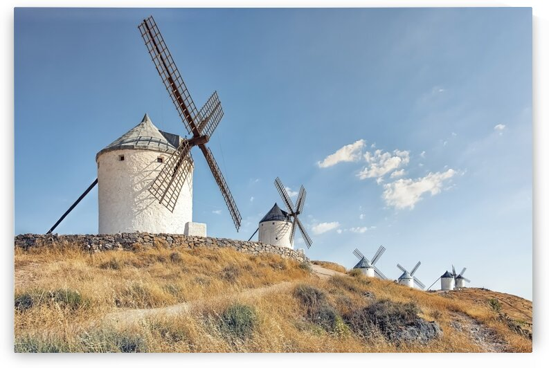 Windmills in La Mancha by Manjik Pictures