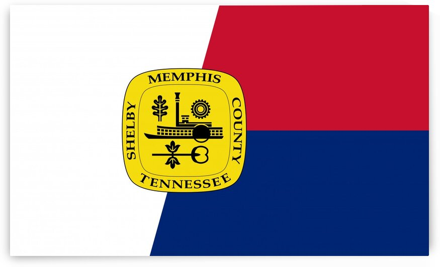 Memphis city Tennessee flag by Tony Tudor