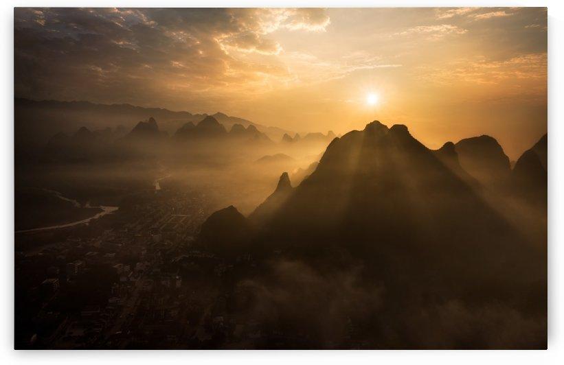 Misty Sunrise by 1x