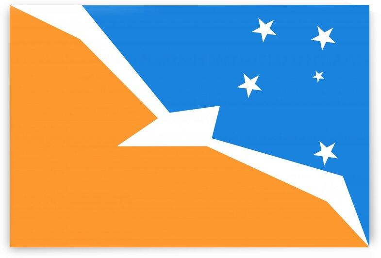 Tierra del Fuego Argentina flag by Tony Tudor