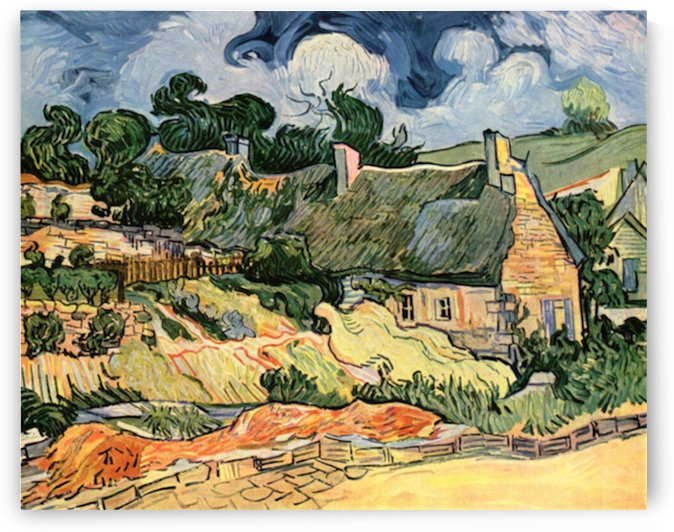 Shelters in Cordeville by Van Gogh by Van Gogh