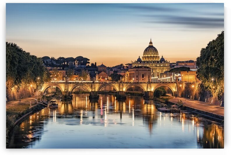 Rome in the evening by Manjik Pictures