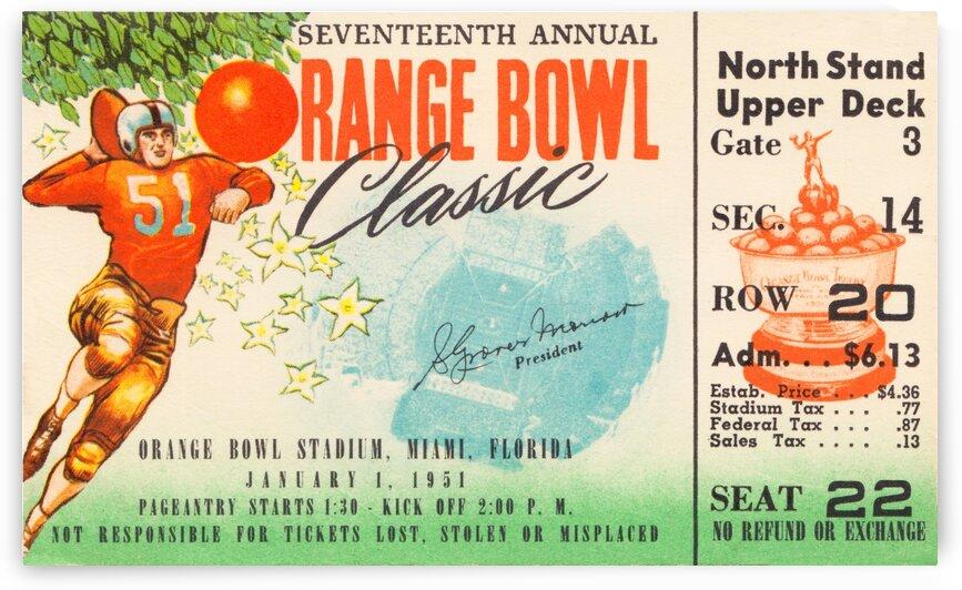 1951 Orange Bowl Clemson Win by Row One Brand