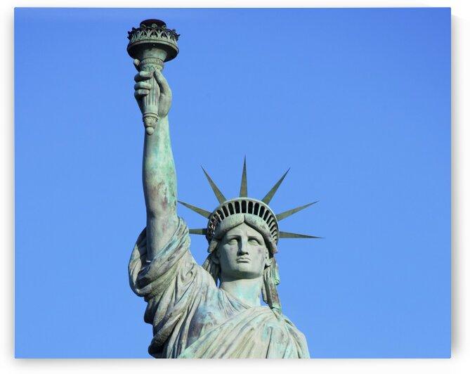 A bronze replica of the Statue of Liberty by Tony Tudor