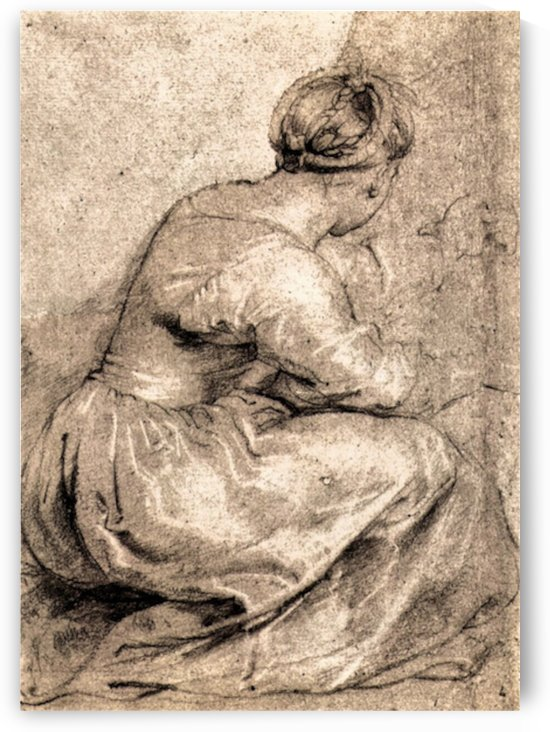 Sitting girl by Rubens by Rubens