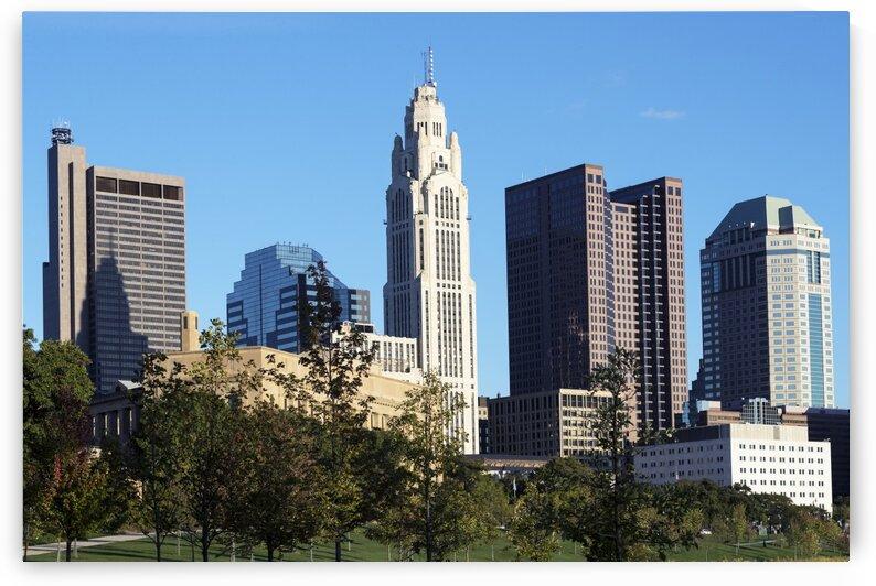 The Columbus  Ohio  skyline by Tony Tudor