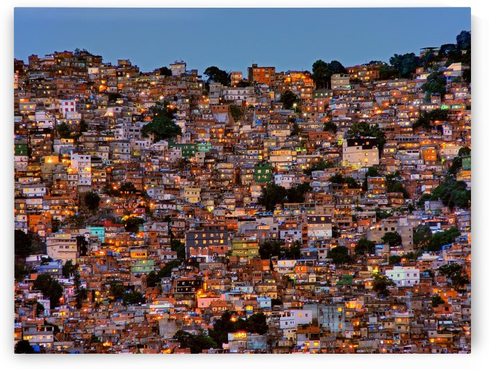 Nightfall in the Favela da Rocinha by 1x