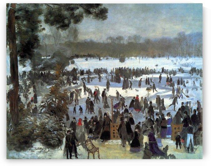 Skating runners in the Bois de Bologne by Renoir by Renoir