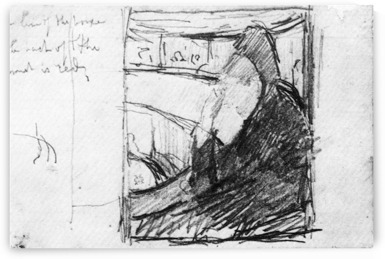 Sketch (in the opera) by Cassatt by Cassatt