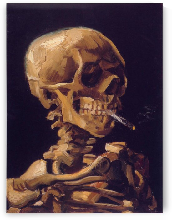 Skull with a Burning Cigarette by Van Gogh by Van Gogh