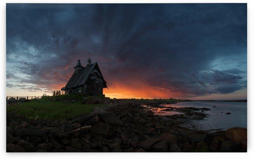 The old church on the coast of White sea by 1x