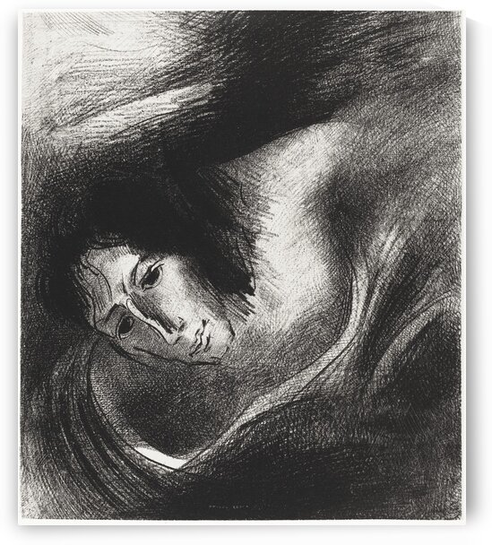 And the Devil That Deceived Them Was Cast Into the Lake of Fire and Brimstone Where the Beast and the False Prophet Are by Odilon Redon by Tony Tudor