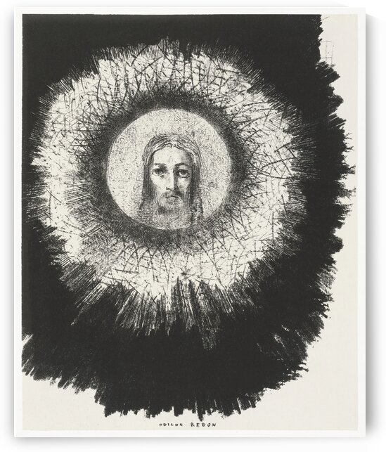 And the Face of Christ Shone in the Disk of the Sun by Odilon Redon by Tony Tudor
