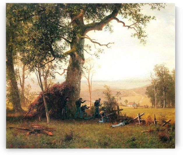 Small war, postal service strike in Virginia by Bierstadt by Bierstadt