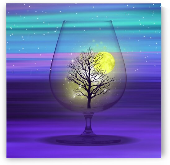 Landscape in a glass. by Ievgeniia Bidiuk