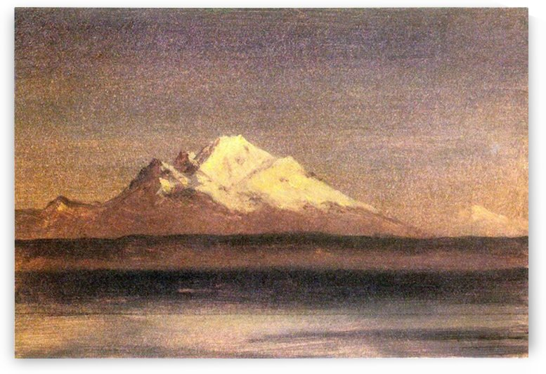 Snowy Mountains in the Pacific Northwest 2 by Bierstadt by Bierstadt