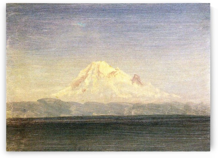 Snowy Mountains in the Pacific Northwest by Bierstadt by Bierstadt