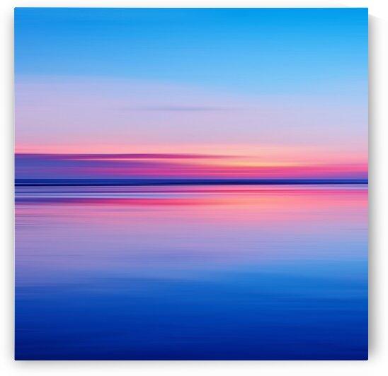 Ocean. Pink sunset.  by Ievgeniia Bidiuk