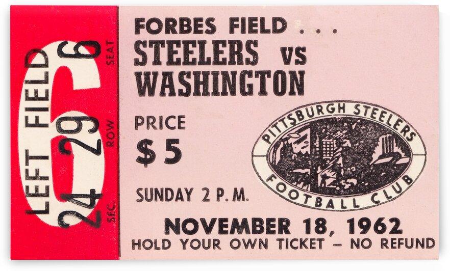 1962 Pittsburgh Steelers vs. Washington by Row One Brand