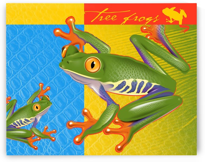 TreeFrog10x8 by Mike Monaghan
