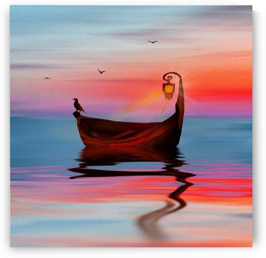 Fabulous boat. by Ievgeniia Bidiuk