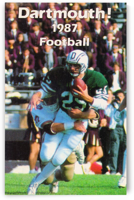 1987 Dartmouth Big Green Football Poster by Row One Brand