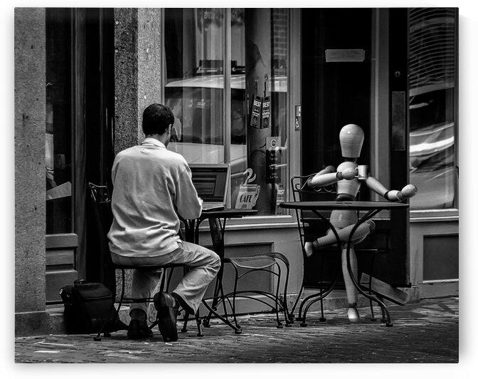 Coffee At The Sidewalk Cafe by Bob Orsillo