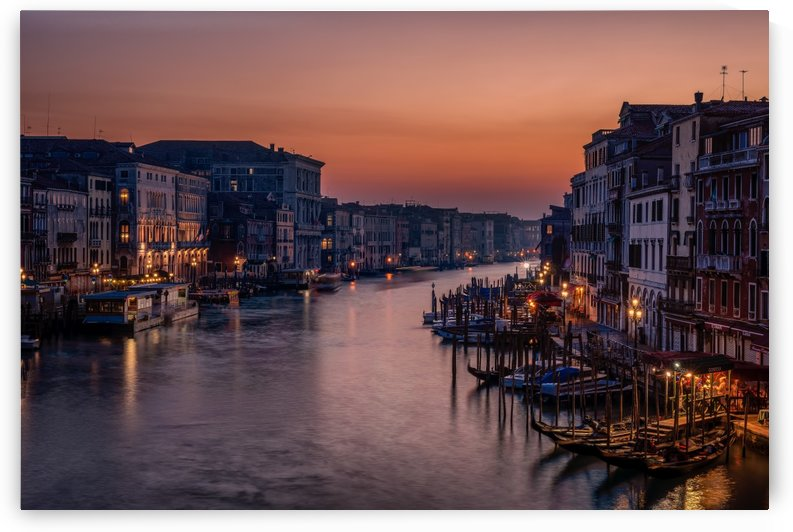Venice Grand Canal at Sunset by 1x