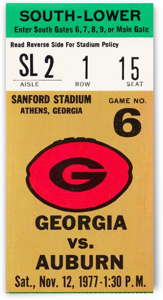 1977 Georgia vs. Auburn by Row One Brand