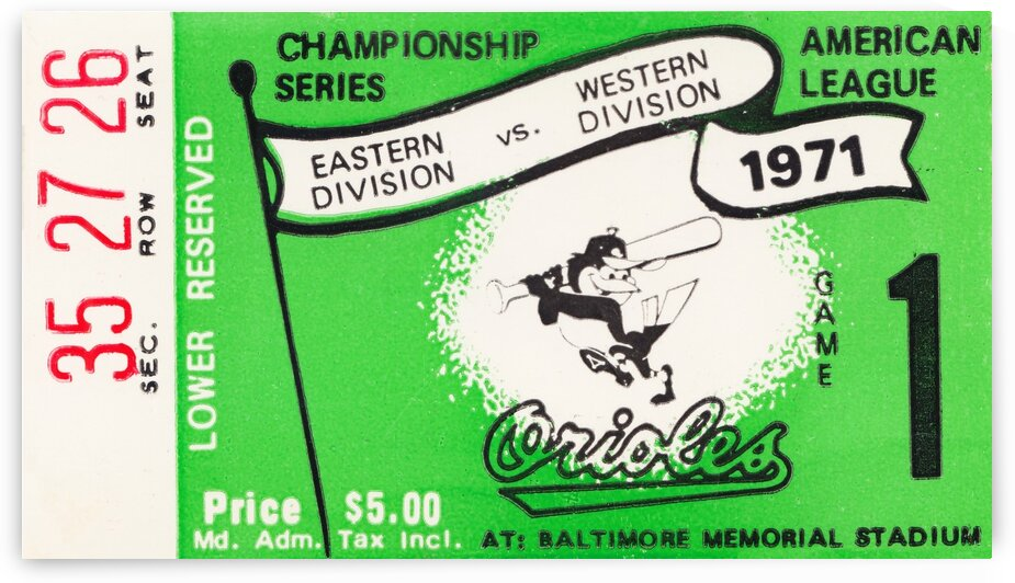 1971 Baltimore Orioles American League Championship by Row One Brand