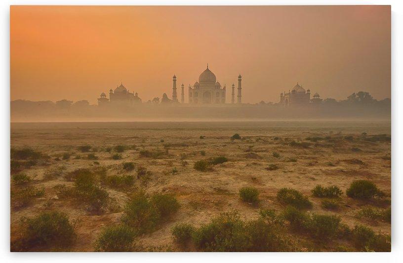 Taj Mahal at Dusk by 1x