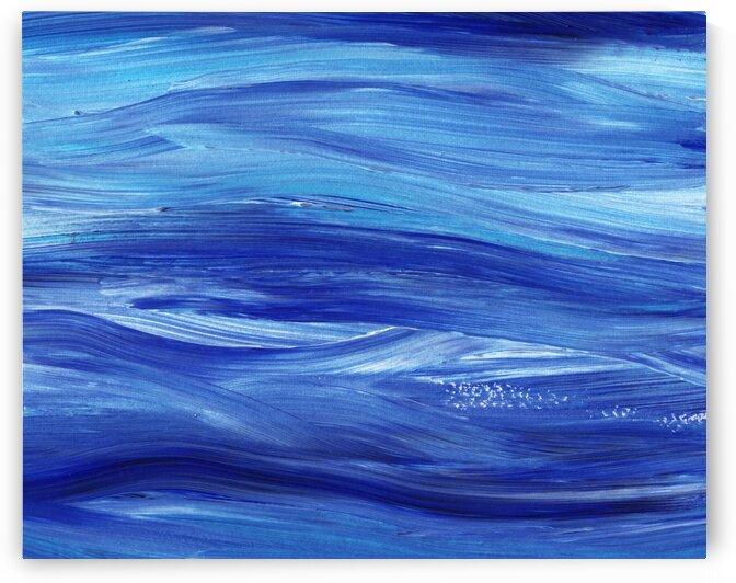 Sea Ocean Waves Coastal Beach House Nautical Decor II by Irina Sztukowski