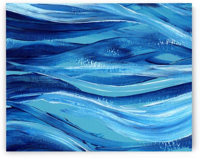 Sea Ocean Waves Coastal Beach House Nautical Decor VII by Irina Sztukowski