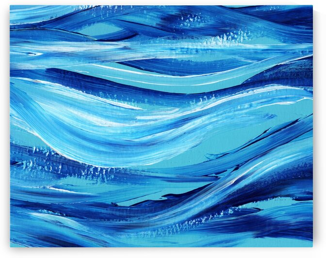 Sea Ocean Waves Coastal Beach House Nautical Decor VIII by Irina Sztukowski
