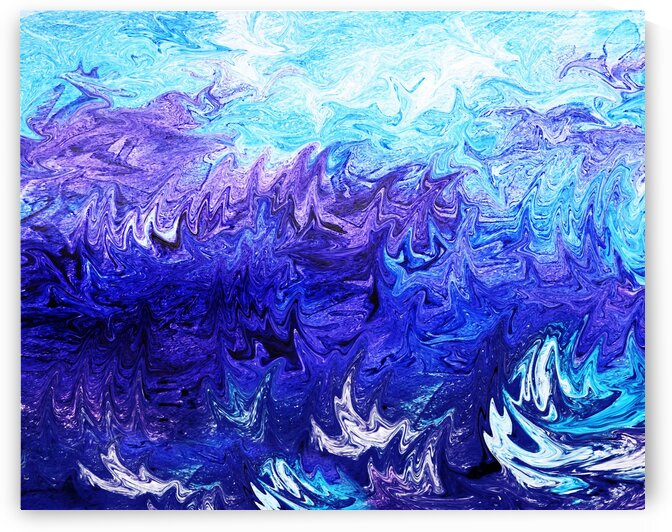 Sea Ocean Waves Coastal Beach House Nautical Decor IX by Irina Sztukowski