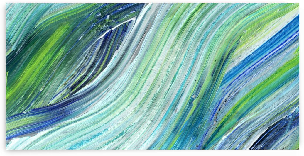Sea Ocean Waves Coastal Beach House Nautical Decor XVII by Irina Sztukowski