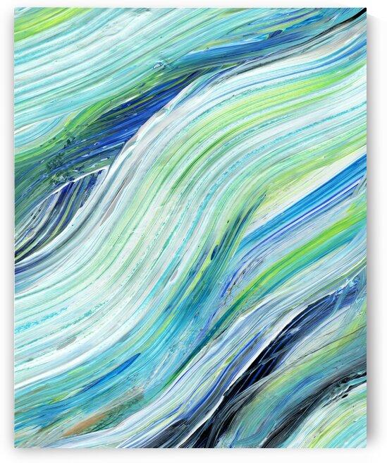 Sea Ocean Waves Coastal Beach House Nautical Decor XVIII by Irina Sztukowski